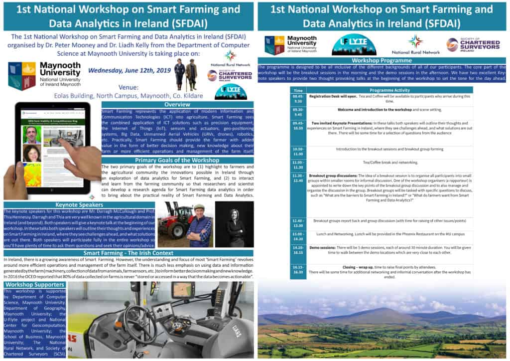 1st National Workshop on Smart Farming and Data Analytics in Ireland (SFDAI) Promotional Image