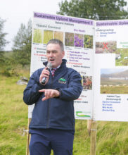 Declan Byrne, Project Manager of the SUAS Pilot Project speaking on Granamore Commonage at the SUAS Pilot Project Open Day Event