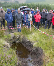 Demonstration stop to discuss Colvert Repair on Granamore Commonage at the SUAS Pilot Project Open Day Event