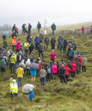 Enda Mullen, Ecologist from NPWS speaking to the group on Granamore Commonage at the SUAS Pilot Project Open Day Event
