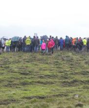 Full Group at one of the Demonstration Stops on Granamore Commonage at the SUAS Pilot Project Open Day Event