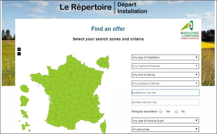 FRANCE - RépertoireDépart Installation